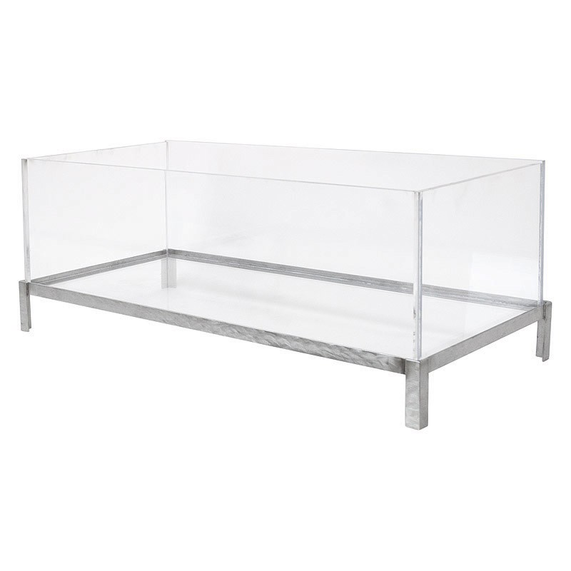 "Buffet Enhancements 010BDA36 36"" Stainless and Acrylic Iced Beverage Display"