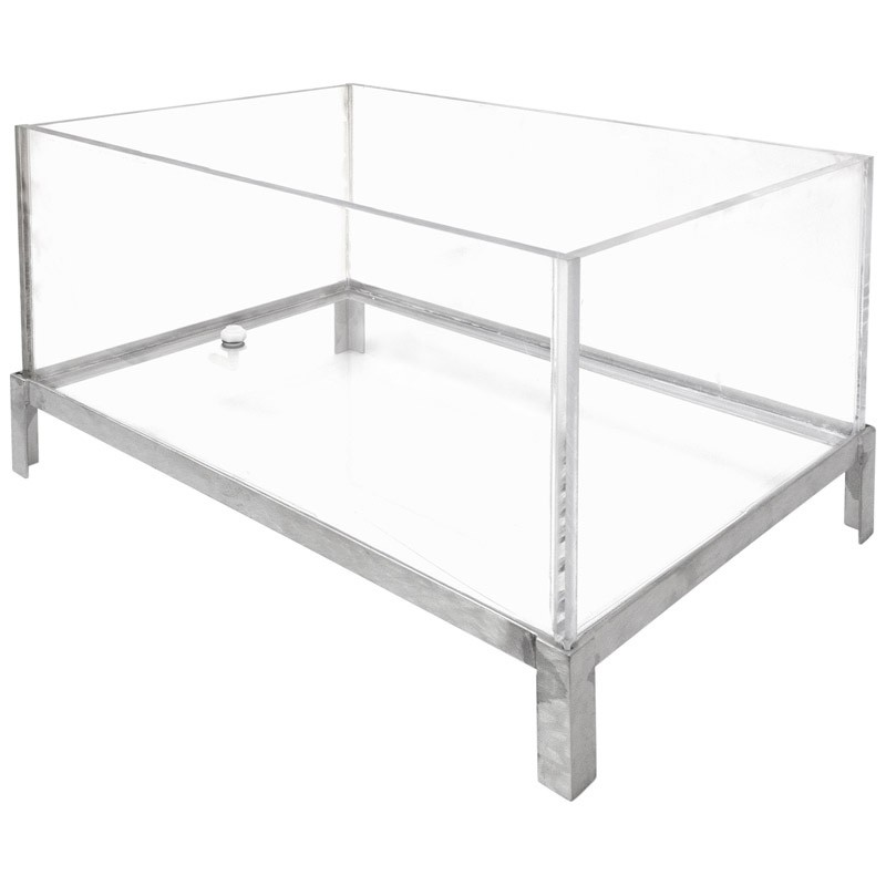 """Buffet Enhancements 010BDG24 24"""" Stainless and Glass Iced Beverage Display"""