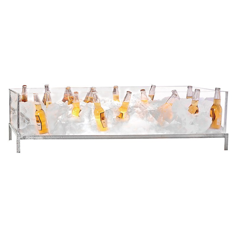 "Buffet Enhancements 010BDG48 48"" Stainless and Glass Iced Beverage Display"