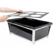 Buffet Enhancements 010BR90 Iron Ice Bin, Jumbo