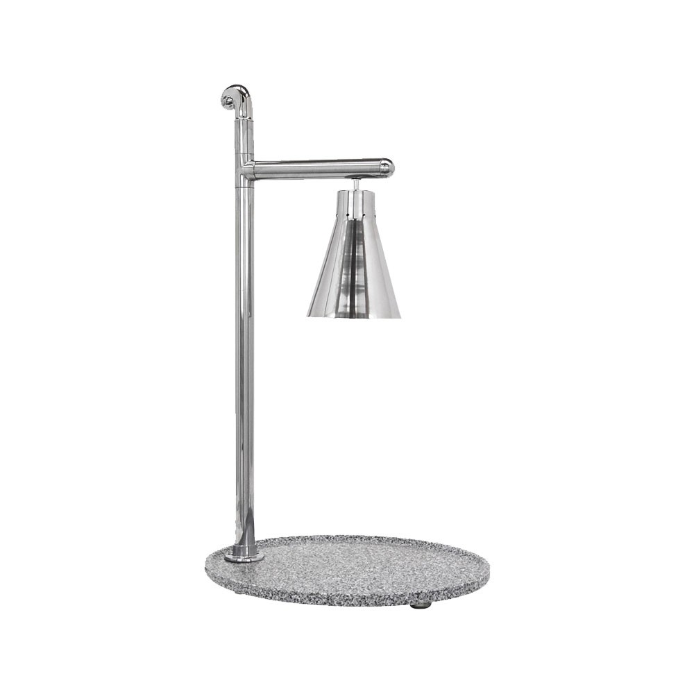 "Buffet Enhancements 010HCL-GG21OVSS 21"" Classic Carving Station with Oval Grey Granite Base and Stainless Lamp"