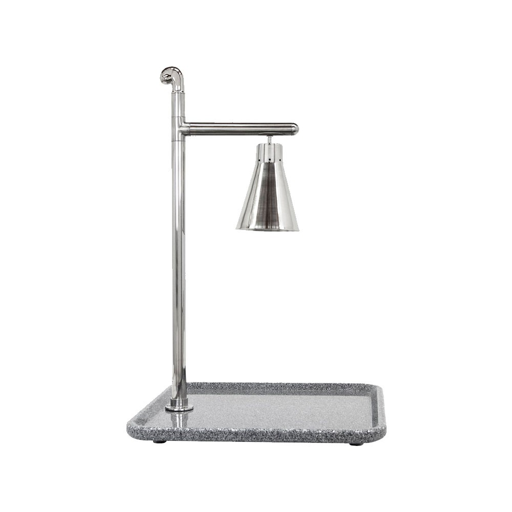 "Buffet Enhancements 010HCL-GG24SQSS 24"" Classic Carving Station with Square Grey Granite Base and Stainless Lamp"