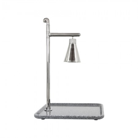 """Buffet Enhancements 010HCL-GG24SQSS Classic Carving Station with Square Grey Granite Base and Stainless Lamp 24"""""""