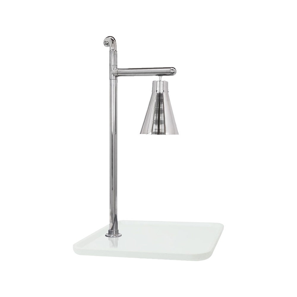 "Buffet Enhancements 010HCL-WG24SQSS 24"" Classic Carving Station with Square White Granite Base and Stainless Lamp"