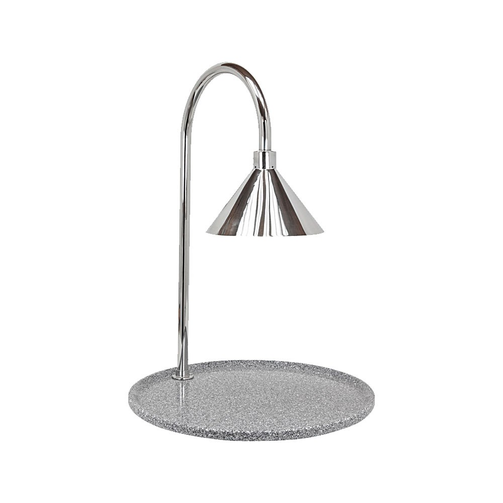 "Buffet Enhancements 010HCLW-GG30RDSS 30"" Contemporary Round Carving Station with Grey Granite Base and Stainless Steel Lamp"