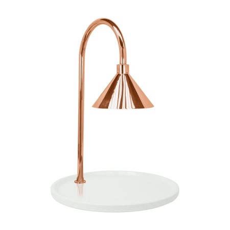 """Buffet Enhancements 010HCLW-WG30RDCP Contemporary Carving Station with Round White Granite Base and Copper Lamp 30"""""""