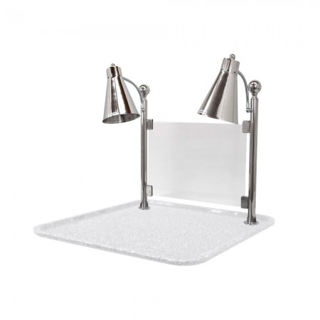 Buffet Enhancements 010hfd Wg24sqsg Carving Station With Square White Granite Base Dual Flex