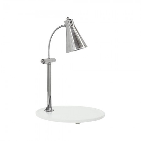 """Buffet Enhancements 010HFS-WG21OV Carving Station with Oval White Granite Base and Single Flex Lamp 21"""""""
