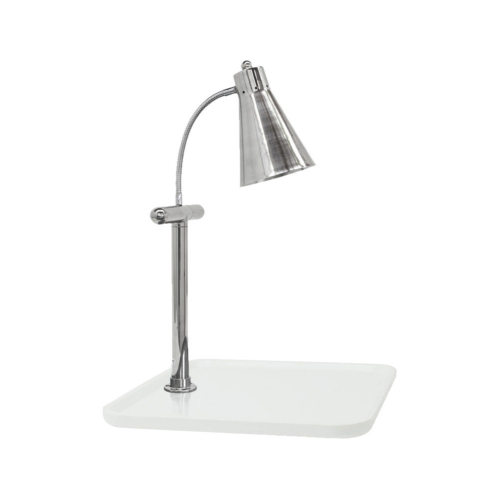 "Buffet Enhancements 010HFS-WG24SQ 24"" Single Flex Lamp Carving Station with Square White Granite Base"