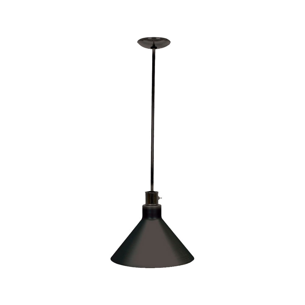 "Buffet Enhancements 010HHW-BL Hanging Heat Lamp with 10"" Shade, Black Powder Coat Finish"