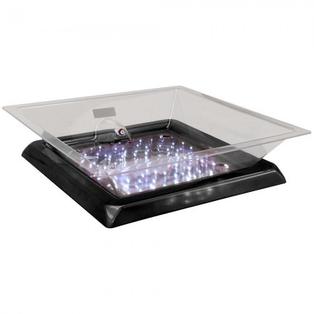 """Buffet Enhancements 010LCS22LED-BK Small LED Lighted Ice Display With Black Base 24"""""""