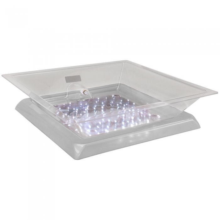 "Buffet Enhancements 010LCS22LED-WT 22"" LED Lighted Ice Display with White Base"