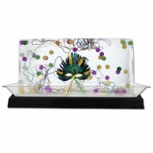 "Buffet Enhancements 010LCS55LED-BK 56"" LED Lighted Ice Display with Black Base"