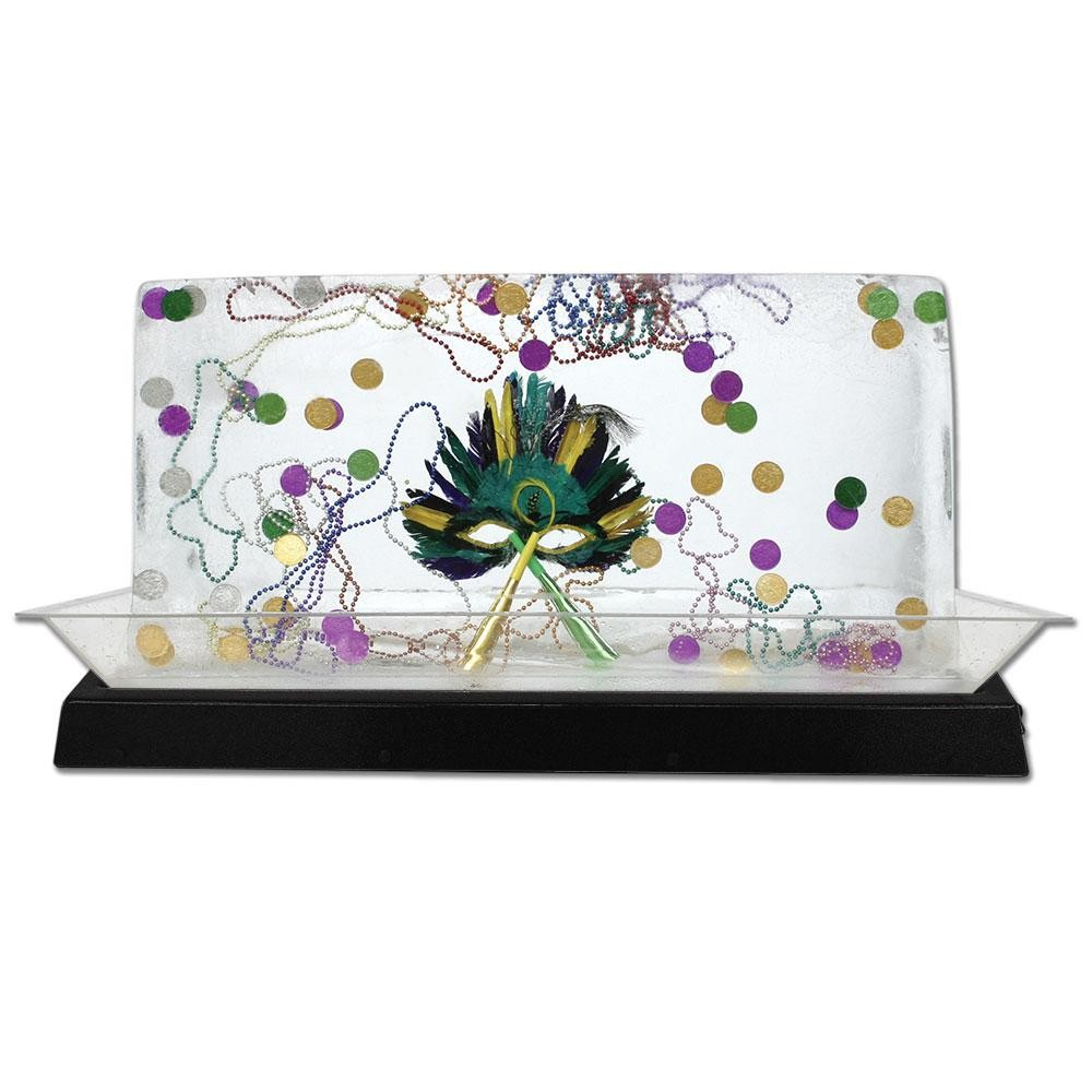 """Buffet Enhancements 010LCS55LED-BK 56"""" LED Lighted Ice Display with Black Base"""