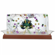"Buffet Enhancements 010LCS55LED-CP 56"" LED Lighted Ice Display with Copper Base"