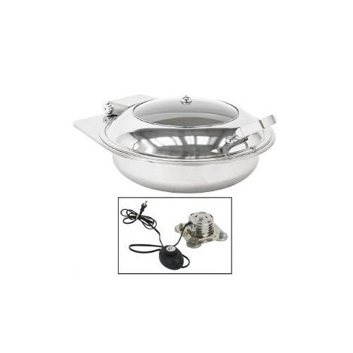 Buffet Enhancements 010YC6-EL Empire Style Electric Round Chafing Dish 6.9 Qt.