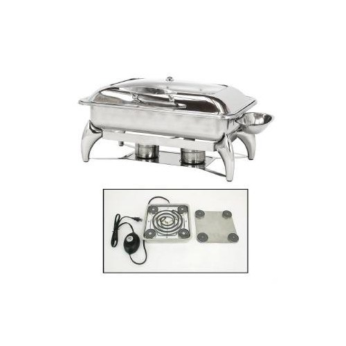 Buffet Enhancements 010YC3-EL New Age™ Electric Rectangular Chafing Dish with Base 8 Qt.