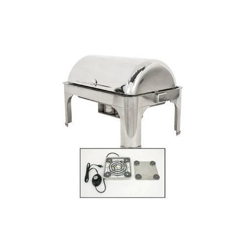 Buffet Enhancements 010YC43-EL Empire Style Drop-In Electric Rectangular Chafing Dish 8 Qt.