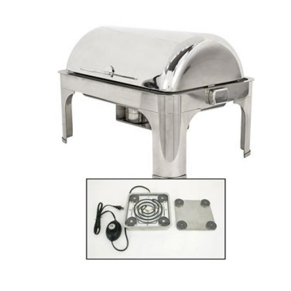 Buffet Enhancements 010YC5-EL Empire Style Electric Rectangle Chafing Dish with Base 8 Qt.