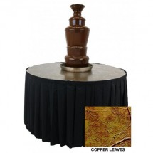 "Buffet Enhancements 1BACFT48M 48"" Chocolate Fountain Table, Metallic Finish, Copper Leaf"