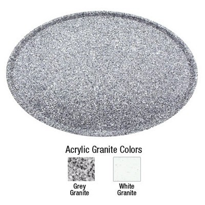 Buffet Enhancements 1BAG1521G Chefstone™ Oval Grey Granite Serving Tray 15""