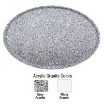 """Buffet Enhancements 1BAG1521WG 15"""" Chefstone™ Oval Serving Tray, White Granite"""
