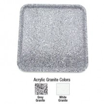 "Buffet Enhancements 1BAG2424 24""Chefstone™ Square Serving Tray, Grey Granite"