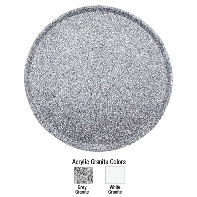 Buffet Enhancements 1BAG24RGG Chefstone™ Round Food Tray, Grey Granite 24""