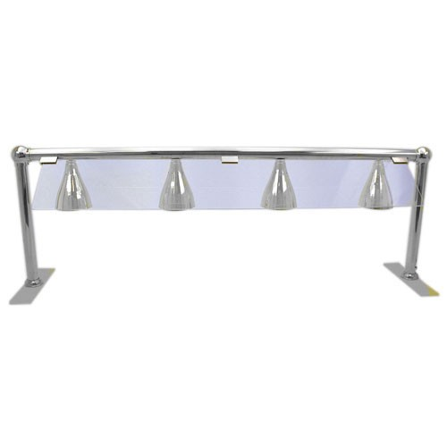 Buffet Enhancements 1BAGHL72SGS Four Heat Lamp Serving Line with Sneeze Guard