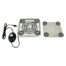 Buffet Enhancements 1BBUFBURN1E Universal Magnetic Large Round Chafing Dish Heater 220 Volt