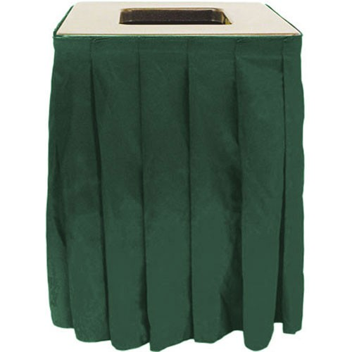 Buffet Enhancements 1BCTCS20SET Square Chefstone™ Can Topper With Pleated Skirt, 35 Gallon