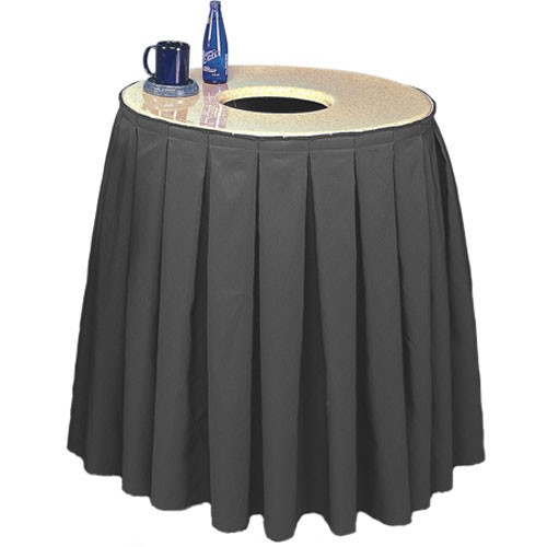 Buffet Enhancements 1BCTCS32SET Round Chefstone™ Can Topper With Pleated Skirt Set, 35 Gallon