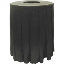 Buffet Enhancements 1BCTCS44SET Round Chefstone™ Can Topper With Pleated Skirt Set, 44 Gallon
