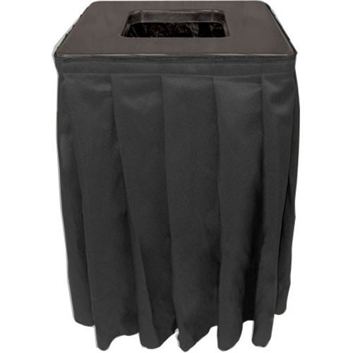 Buffet Enhancements 1BCTV20SET Square Value ABS Plastic Can Topper with Pleated Skirt 35 Gallon