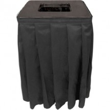 Buffet Enhancements 1BCTV20SET Square Value ABS Plastic Can Topper with Pleated Skirt Set, 35 Gallon
