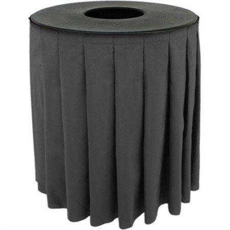 Buffet Enhancements 1BCTV32SET Round Value ABS Plastic Can Topper with Solid Pleated Skirt 33 Gallon