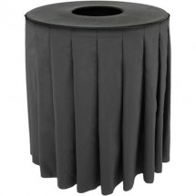 Buffet Enhancements 1BCTV32SET Round Value ABS Plastic Can Topper with Solid Pleated Skirt Set, 32 Gallon