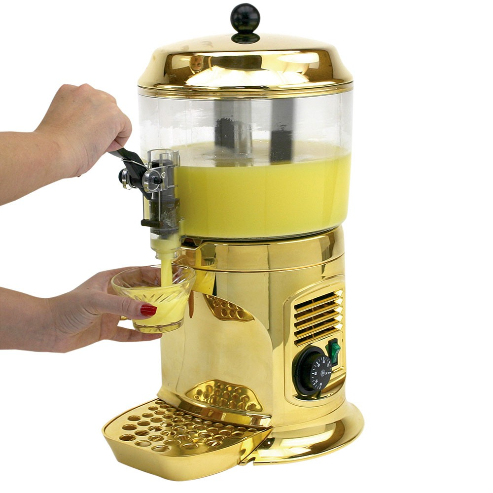Buffet Enhancements 1BHC245 Chocolate Shot Drinking Chocolate Machine in Gold