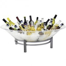 Buffet Enhancements 1BLRE32SET Iron Enhancements™ Round Iron Ice Display with Acrylic Tray