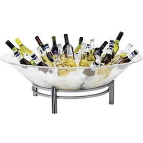 Buffet Enhancements 1BLRE32SET Square Iron Ice Display with Acrylic Tray