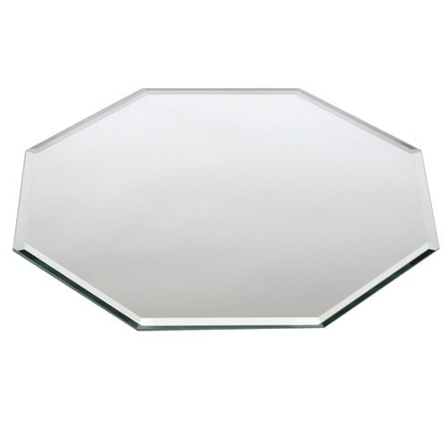 "Buffet Enhancements 1BMBO14 14"" Centerpiece Octagonal Beveled Glass Mirror"