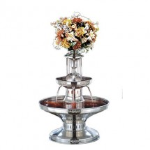 Buffet Enhancements 1BMFDC28 Silver Trim Stainless Steel Champagne Fountain 4.5 Gallon