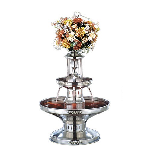 Buffet Enhancements 1BMFDC28 4.5 Gallon Silver Trim Stainless Steel Champagne Fountain