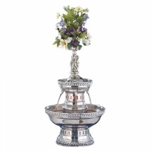 Buffet Enhancements 1BMFDC3SS Silver Rope Trim Stainless Steel Champagne Fountain 3 Gallon