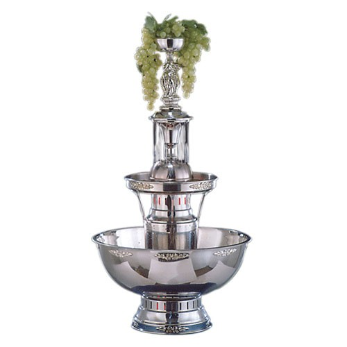 Buffet Enhancements 1BMFDC7SS 7 Gallon Silver Trim Champagne Fountain