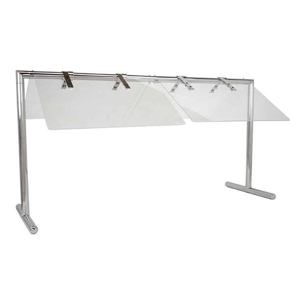 "Buffet Enhancements 1BSGF50SS 50"" Portable Folding Sneeze Guard 50"""