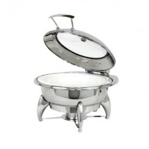Buffet Enhancements 1BT15301 Induction Ready Round Chafing Dish 6.8 Qt.