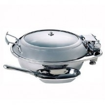 Buffet Enhancements 1BT15301C Induction Ready Round Chafing Dish 6.8 Qt.