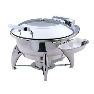 Buffet Enhancements 1BT15303 New Age™ Induction Ready Round Chafing Dish 4.8 Qt.