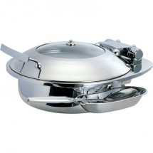 Buffet Enhancements 1BT15303C Induction Ready Round Chafing Dish 4.8 Qt.